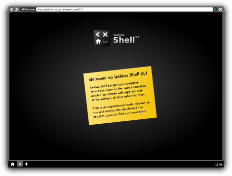 Webian Shell screenshot